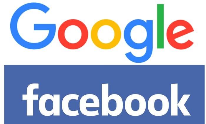 Kết quả hình ảnh cho facebook and goôgle